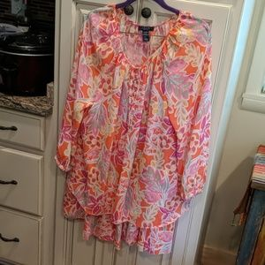 Two piece blouse & skirt